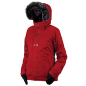 Bonfire Arena Jacket Solid Womens Insulated Snowboard Jacket, Cranberry, medium