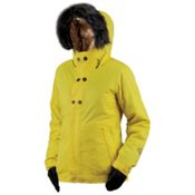 Bonfire Arena Jacket Solid Womens Insulated Snowboard Jacket, Sunny, medium