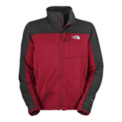 The North Face Momentum Mens Jacket, Biking Red-Asphalt Grey, medium