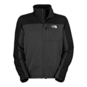 The North Face Momentum Mens Jacket, Asphalt Grey-TNF Black, medium
