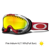 Oakley Shaun White A Frame Goggles, Red Future Primitive-Fire Iridium, medium