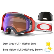 Oakley Airbrake Seth Morrison Goggles 2014, Risk Taker-Blue Iridium, medium