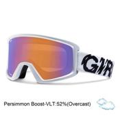 Giro Blok Goggles, White Static-Persimmon Boost, medium