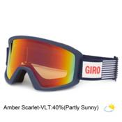 Giro Blok Goggles, Blue Usa-Amber Scarlet, medium