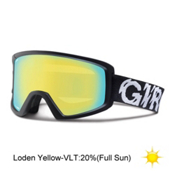 Giro Blok Goggles, Black Static-Loden Yellow, medium
