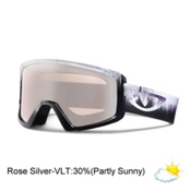 Giro Blok Goggles, Black Emulsion-Rose Silver, medium