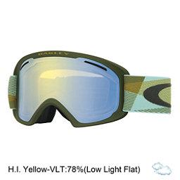 Oakley O2 XL Goggles 2017, Geo Twill Burnished Blue-Hi Ye, 256