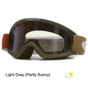 Oakley O2 XS Kids Goggles, Shady Trees Olive-Light Grey, medium