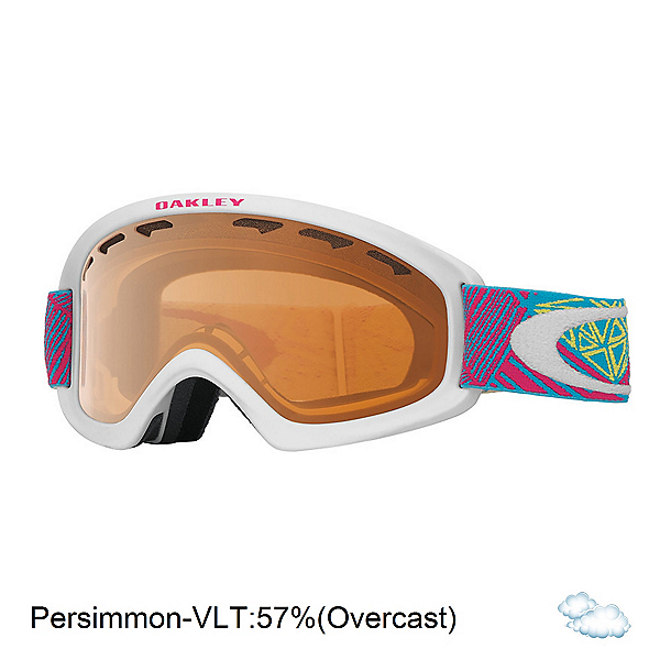 Oakley O2 XS Kids Goggles, Geo Chaos Neon Pink-Persimmon, 600