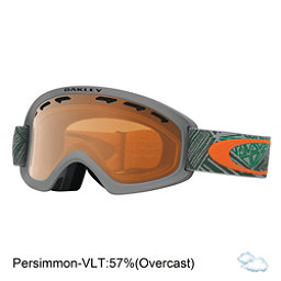 Oakley O2 XS Kids Goggles, Geo Chaos Iron Green-Persimmon, 256