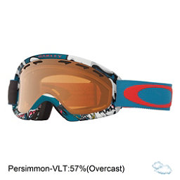 Oakley O2 XS Kids Goggles 2018, Shady Trees Blue Red-Persimmon, 256