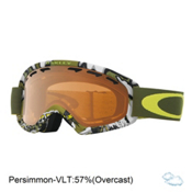 Oakley O2 XS Kids Goggles 2017, Shady Trees Army Green-Persimm, medium