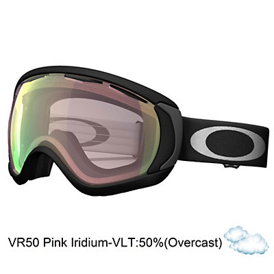 Oakley Canopy Asian Fit Goggles 2017, Matte Black-Vr50 Pink Iridium, viewer