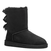UGG Bailey Bow Girls Boots, Black, medium