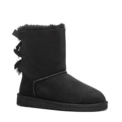 UGG Bailey Bow Girls Boots, Black, viewer