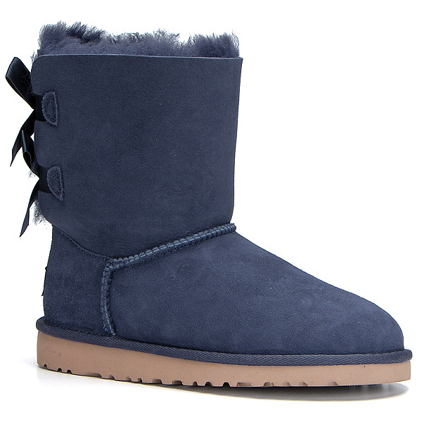 UGG Bailey Bow Girls Boots, Solid Peacoat, 600
