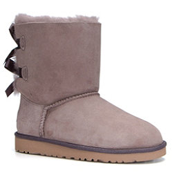 UGG Bailey Bow Girls Boots, Stormy Grey, 256