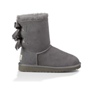 UGG Bailey Bow Girls Boots, Grey, medium