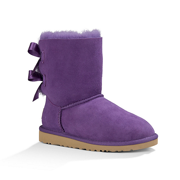 UGG Bailey Bow Girls Boots, Bilberry, 600