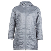 Columbia Mighty Lite Hooded Plus Womens Jacket, Tradewinds Grey, medium