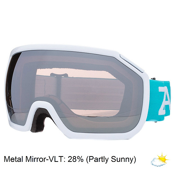 Zeal Optics Fargo Goggles, Blue Crush-Metal Mirror, 600