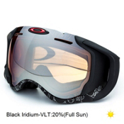 Oakley Airwave GPS Goggles, Silver Text-Black Iridium, medium
