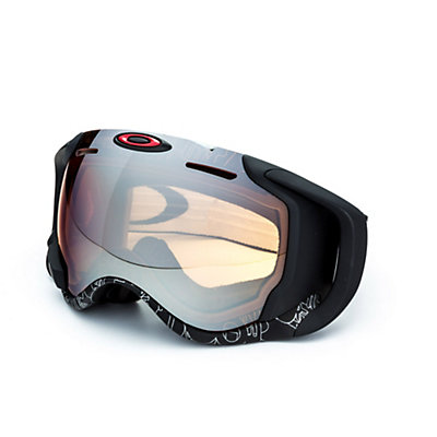 Oakley Airwave GPS Goggles 2017, Silver Text-Black Iridium, viewer