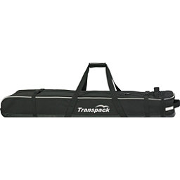Transpack Ski Vault Double Pro Wheeled Ski Bag 2017, Black-Silver Reflect, 256