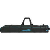 Transpack Ski Vault Double Pro Wheeled Ski Bag 2017, Black-Blue Electric, medium