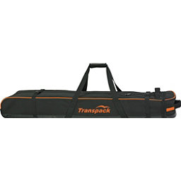 Transpack Ski Vault Double Pro Wheeled Ski Bag 2017, Black-Orange Electric, 256