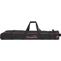 Transpack Ski Vault Double Pro Wheeled Ski Bag 2018, Black-Pink Electric, 256