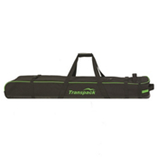 Transpack Ski Vault Double Pro Wheeled Ski Bag 2017, Black-Lime Electric, medium