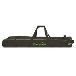 Transpack Ski Vault Double Pro Wheeled Ski Bag 2017, Black-Lime Electric, 256