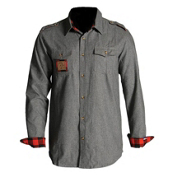 Icelantic Wool Button Up Flannel, Heather, medium