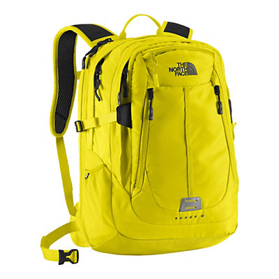 The North Face Surge II Charged Backpack, Sulpher Spring Green, large
