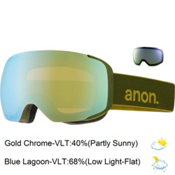 Anon M2 Goggles, Boyscout-Gold Chrome + Bonus Lens, medium