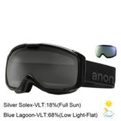 Anon M1 Goggles, Black-Silver Solex + Bonus Lens, medium
