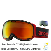 Anon M1 Goggles 2015, Black-Red Solex + Bonus Lens, medium