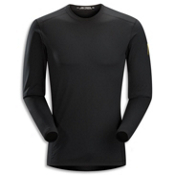 Arc'teryx Phase AR Crew Mens Long Underwear Top, Black, medium