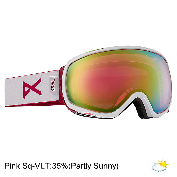 Anon Tempest Womens Goggles, White-Pink Sq, 600