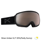 Anon Tempest Womens Goggles, Black-Silver Amber, medium
