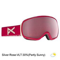 Anon Tempest Womens Goggles 2017, Strawberry-Silver Rose, 256