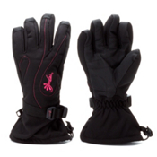 Gordini Fall Line II Womens Gloves, Black-Pink Stitching, medium