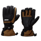 Gordini Tactic Gauntlet Gloves, Black-Tan, medium