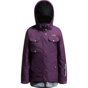 Orage Sequel Jacket Girls Ski Jacket, Plum, medium