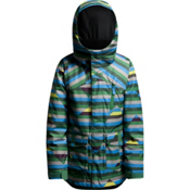 Orage Codero Boys Ski Jacket, Blue Broken Stripes, medium