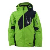 Spyder Leader Boys Ski Jacket (Previous Season), Mantis-Black, medium