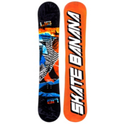 Lib Tech Skate Banana Narrow Snowboard, Black-Orange-Blue, medium