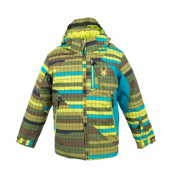Spyder Armageddon Boys Ski Jacket, SHL Blocked Stripe-SHL Blocked Stripe-Tsunami, medium