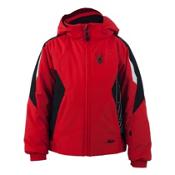 Spyder Mini Guard Toddler Ski Jacket (Previous Season), Volcano-Black-White, medium